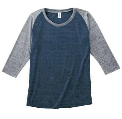 7分袖トライブレンドラグランTシャツ